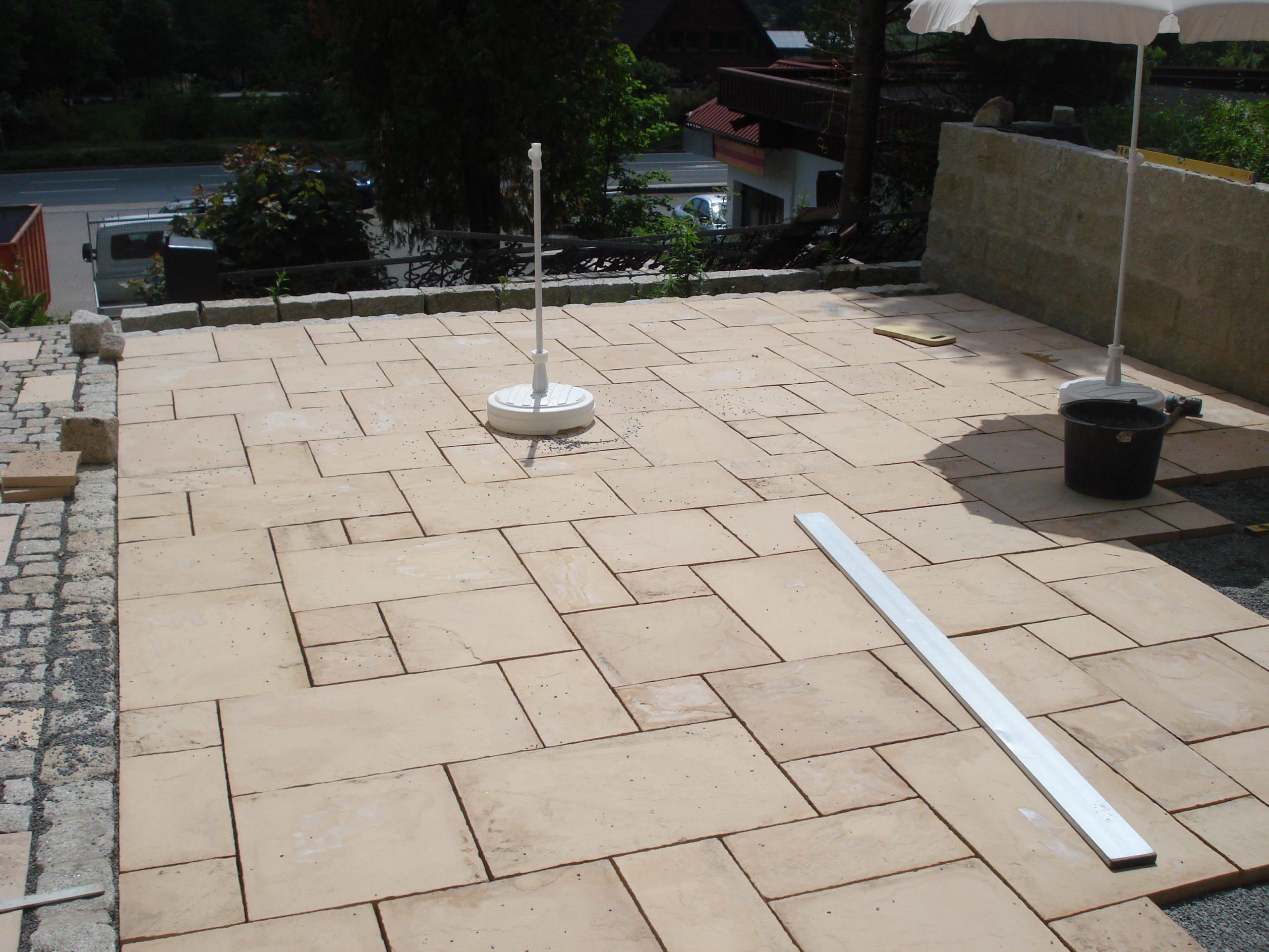 Betonplatten wilder Verband 60x40, 40x40, 40x20, 20x20cm