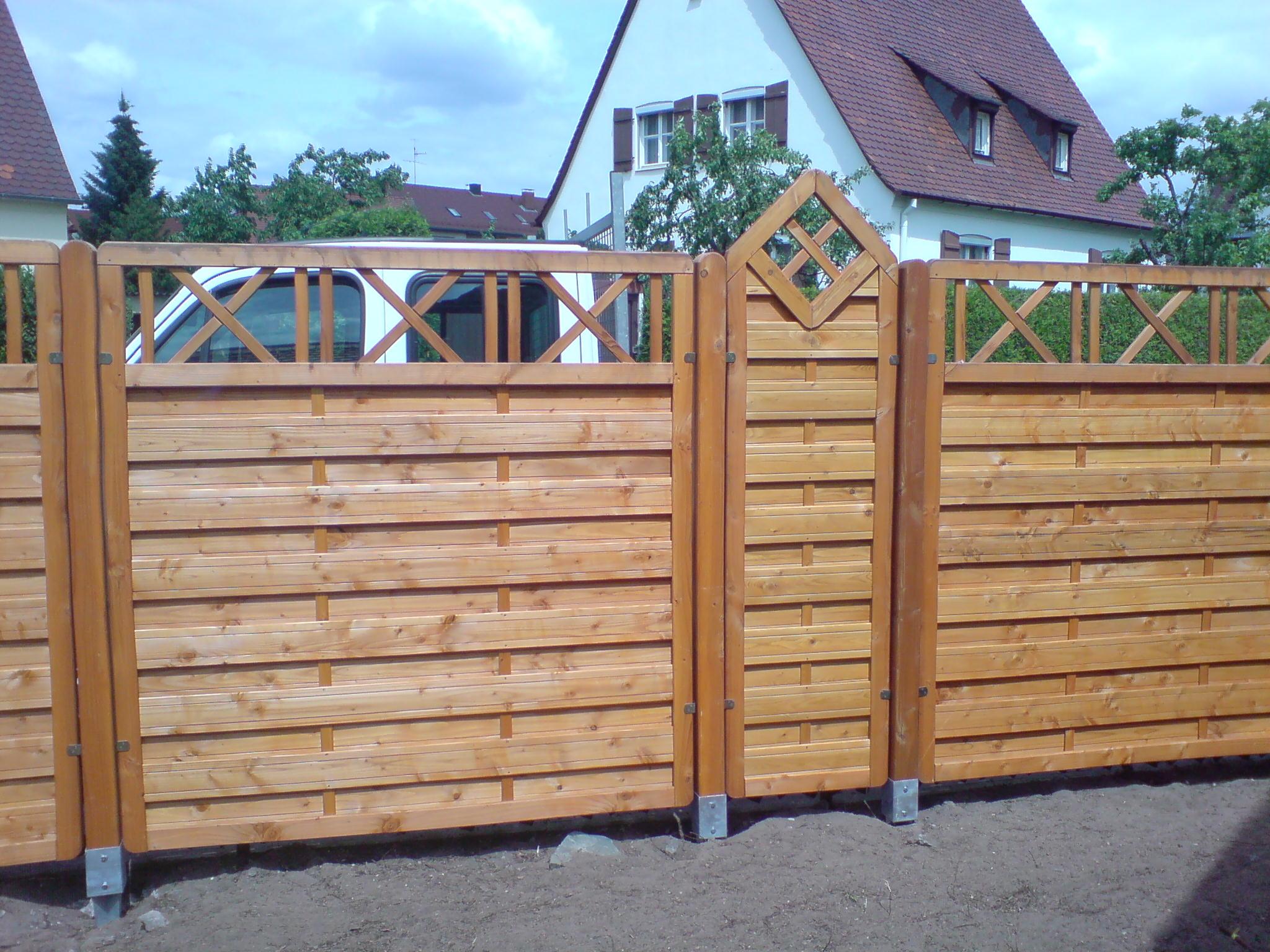 Sichtschutzelemente aus Holz